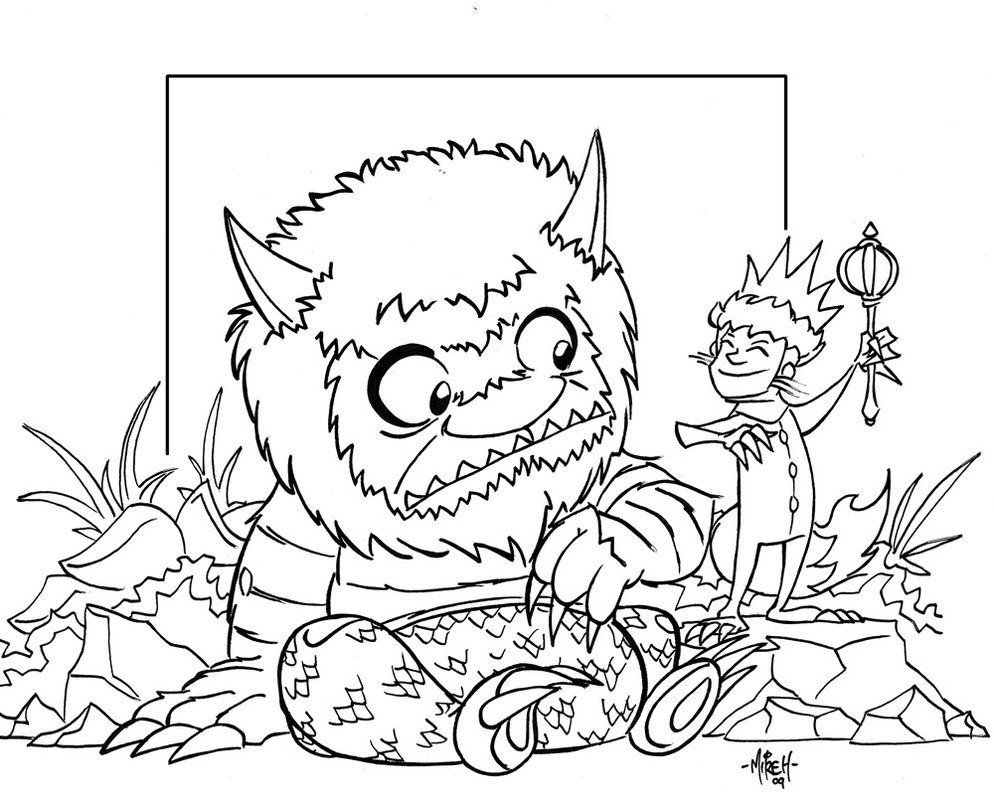 where the wild things are black and white coloring pages where the wild things are monsters coloring pagesfuneral