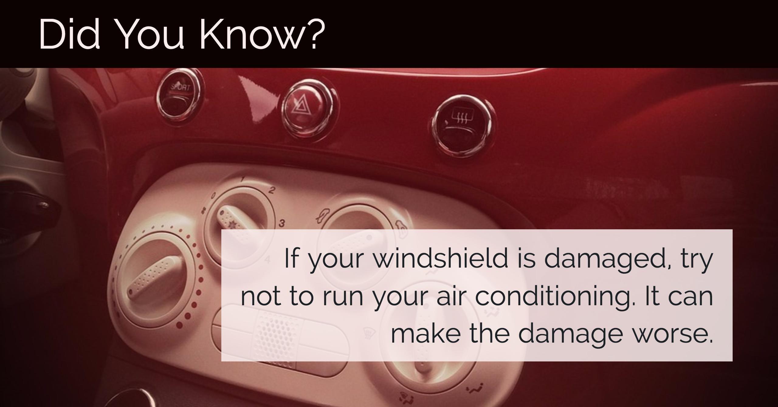 Broken Windshield Tip No Air Conditioning! Windshield