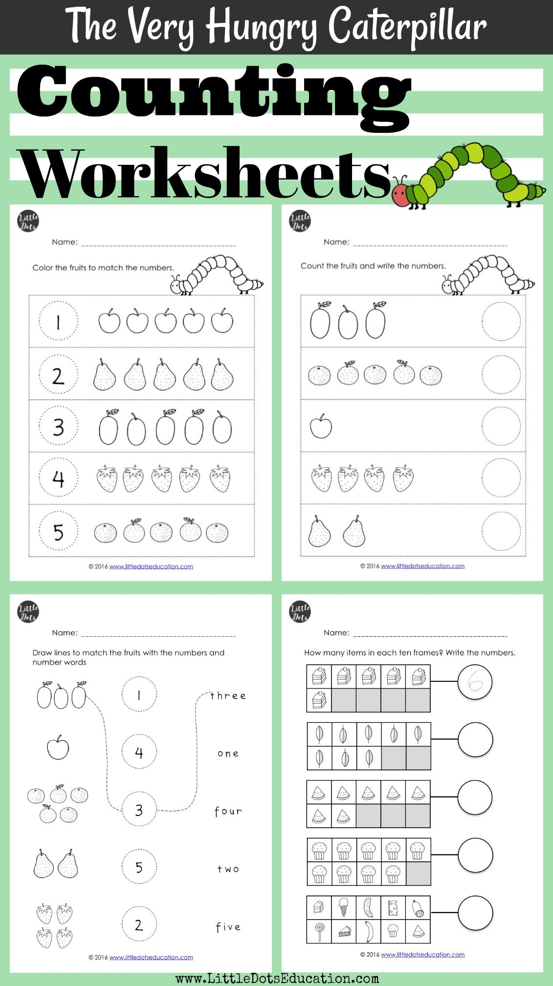 Download The Very Hungry Caterpillar Math Activities On