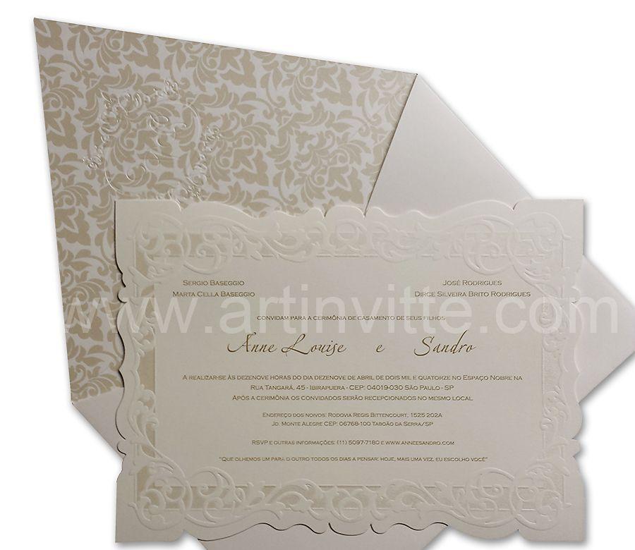 Convite de casamento sevilha