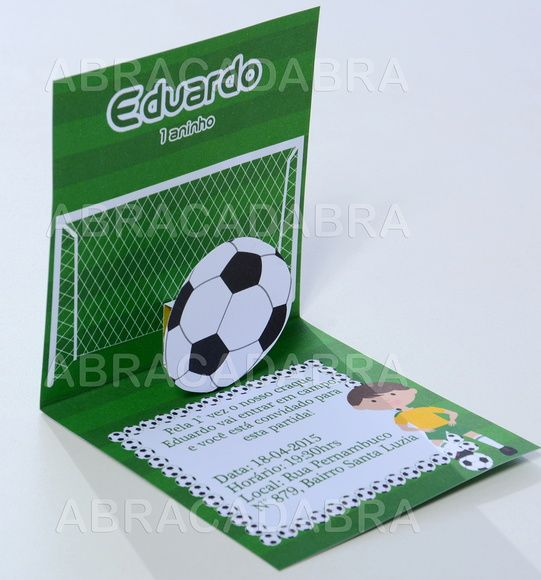 Convite Futebol 3D  03d449cdef0c5