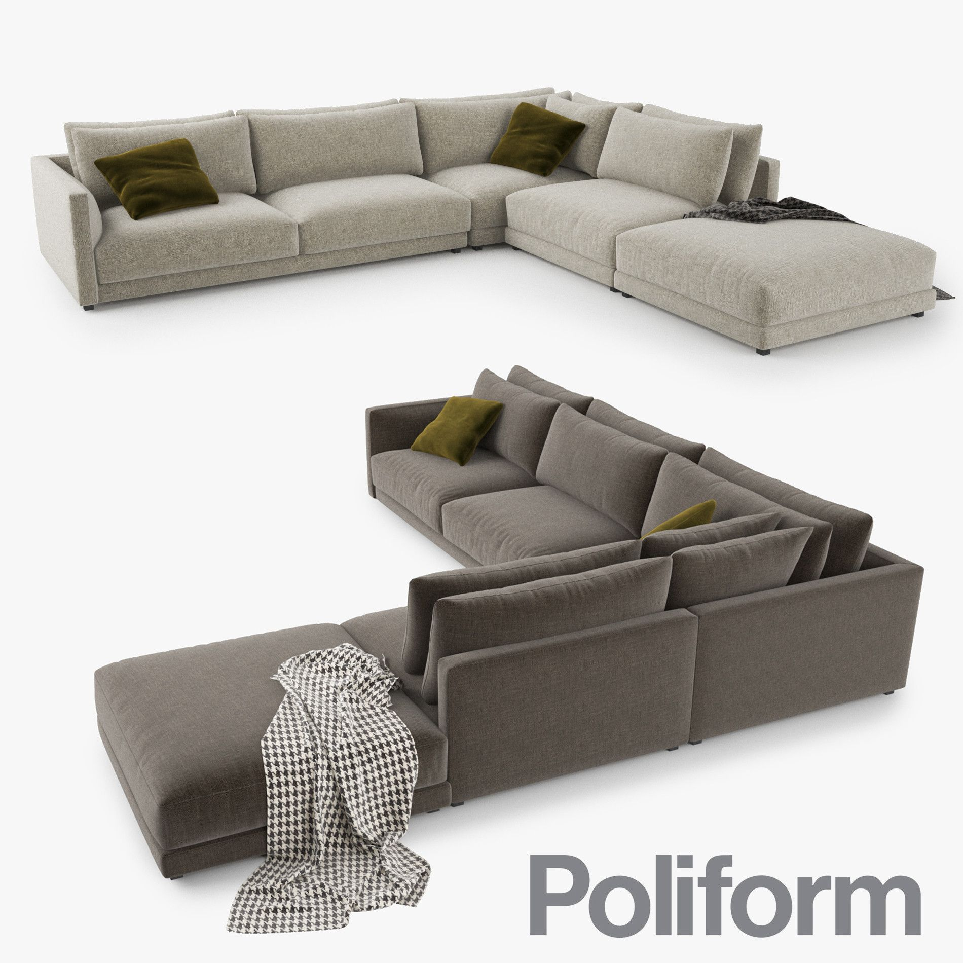 3d 3ds Poliform Bristol Sofa 3d Model Modern Sofa Living Room Poliform Sofa Design