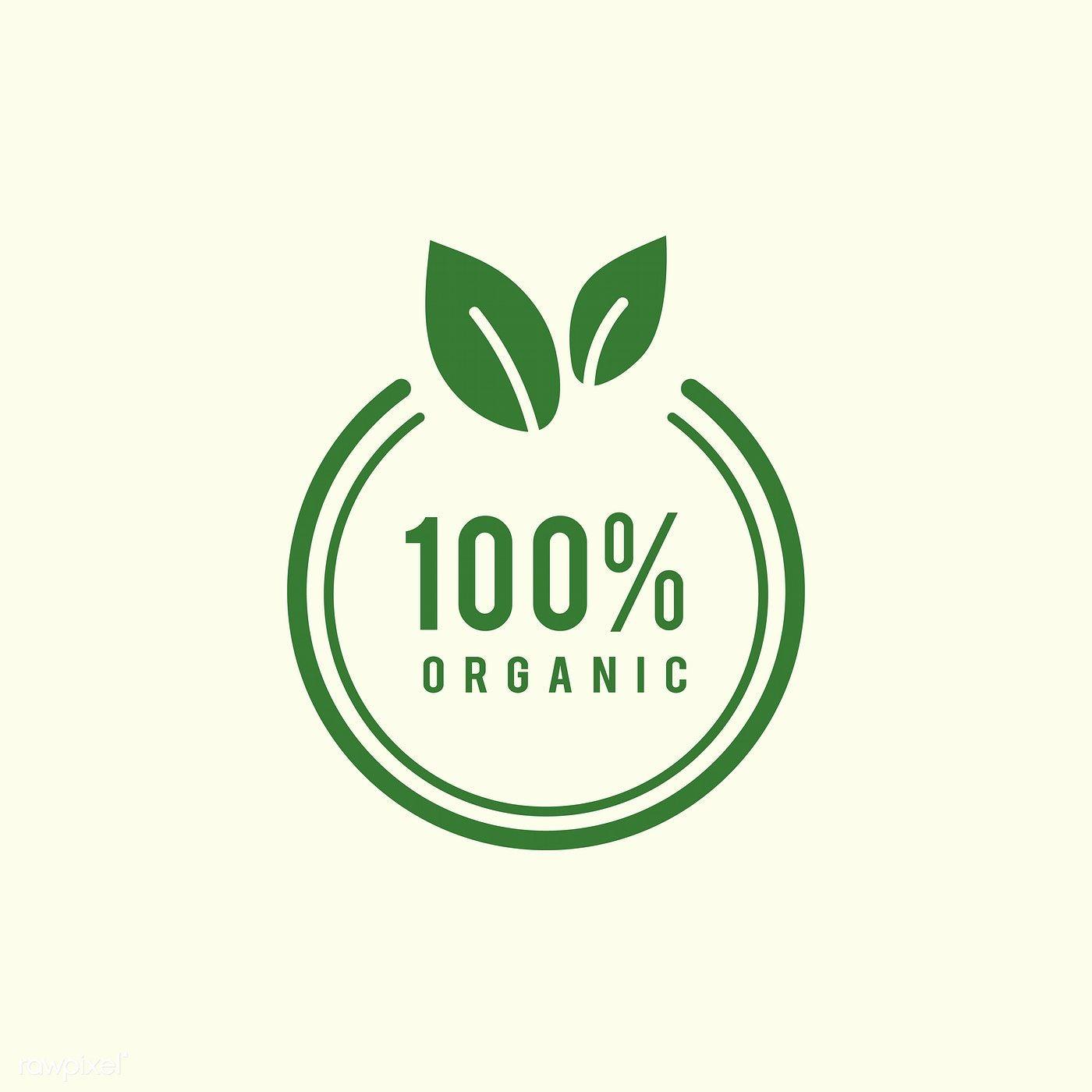 100 percent organic emblem illustration free image by rawpixel com