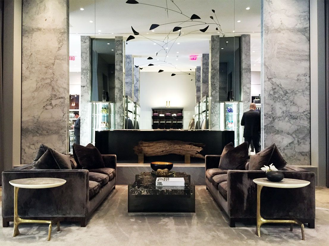 Tom Ford In Beverly Hills: Brass With Shagreen Side Tables By Scala Luxury