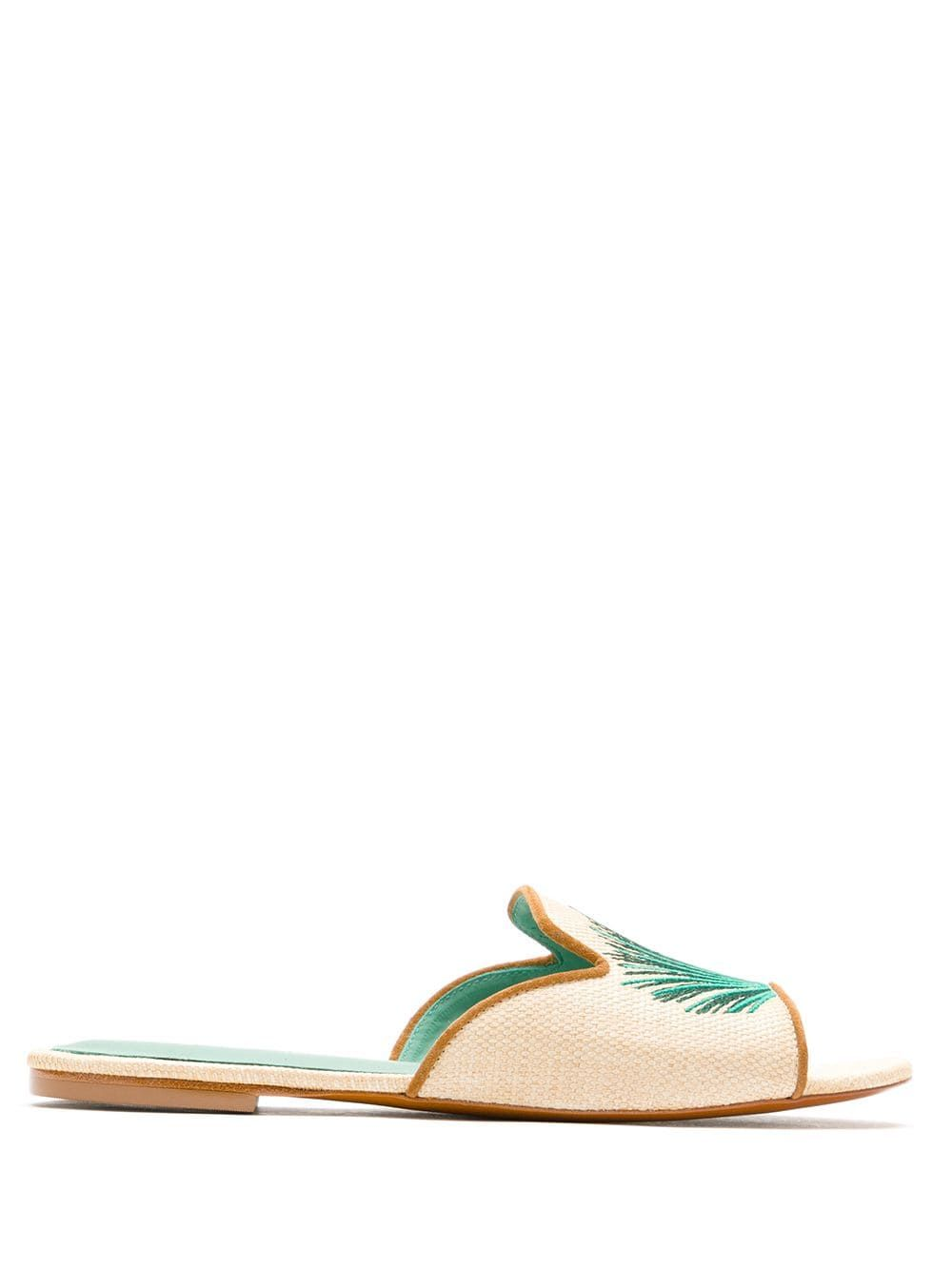 Blue Bird Shoes Palmeira Straw Slides - Farfetch