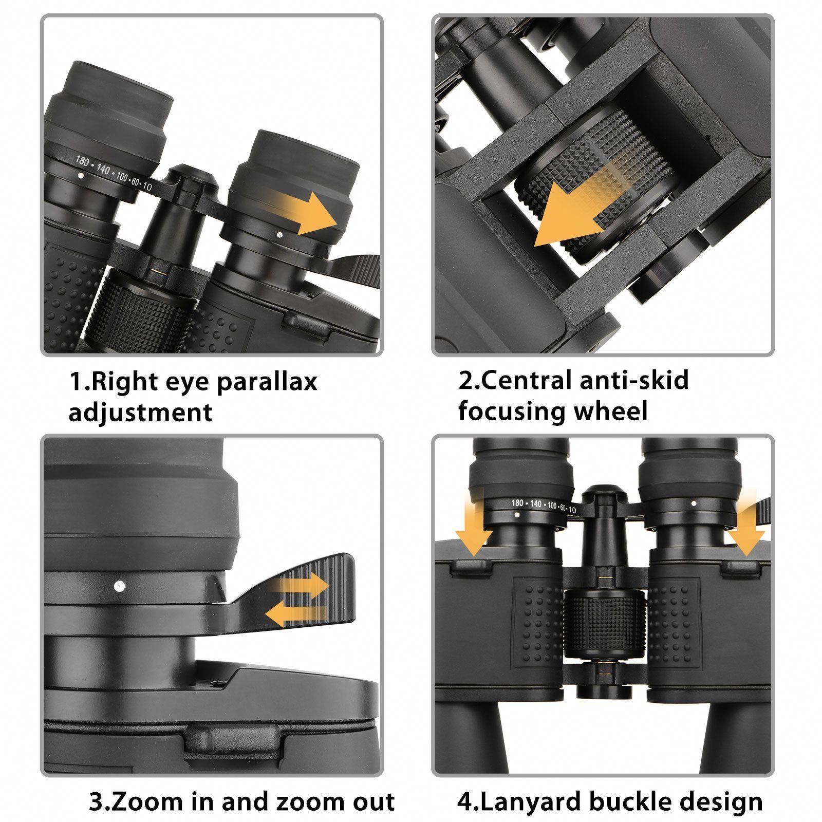 EEEKit Quick Focus Binoculars 180x100 Zoom Day Waterproof Wide Angle Telescope with Low Night View for Outdoor Traveling Bird Watching Great Present