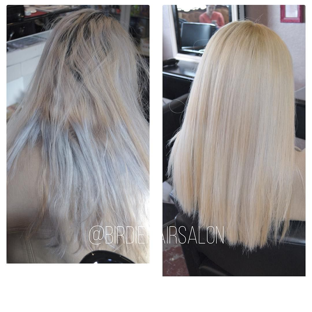 Birdie Hair Salon On Instagram Yes We Can Perform Miracles My Client Came In With Patchy Over Bleachedhair With Breakage On Bleached Hair Asian Hair Hair