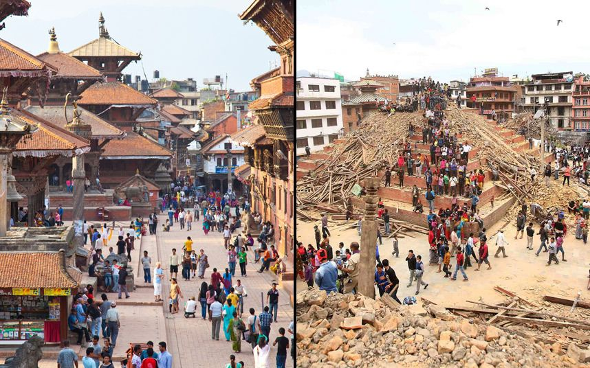 88883ef18ee117 Nepal earthquake  Kathmandu landmarks before and after quake