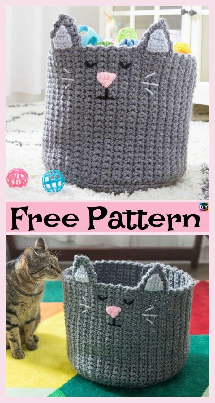 8 Most Adorable Crochet Basket Free Patterns | crochet | Pinterest ...