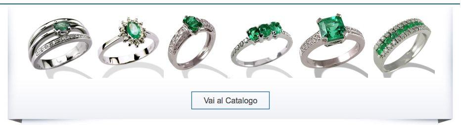 TORINOGIOIELLI Anelli con Diamanti e Smeraldi