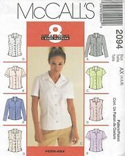 McCall's 2094 Misses' Tops  Sewing Pattern