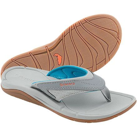 When you turn your five-weight trout rod in for a ten-weight salt water set up, you might as well switch out your old wading boots for a pair of Simms Women's Atoll Flip Flops. Designed with anglers in mind, these sandals deliver the traction you need when casting from the bow of a boat and the comfort you crave when relaxing back on the beach with a cocktail. Your guide will appreciate the non-marking gum rubber sole, and you'll enjoy the comforts of a neoprene lining.