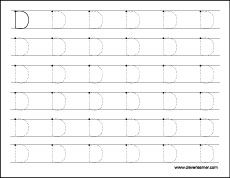 Free Letter D Tracing Worksheets For Preschool