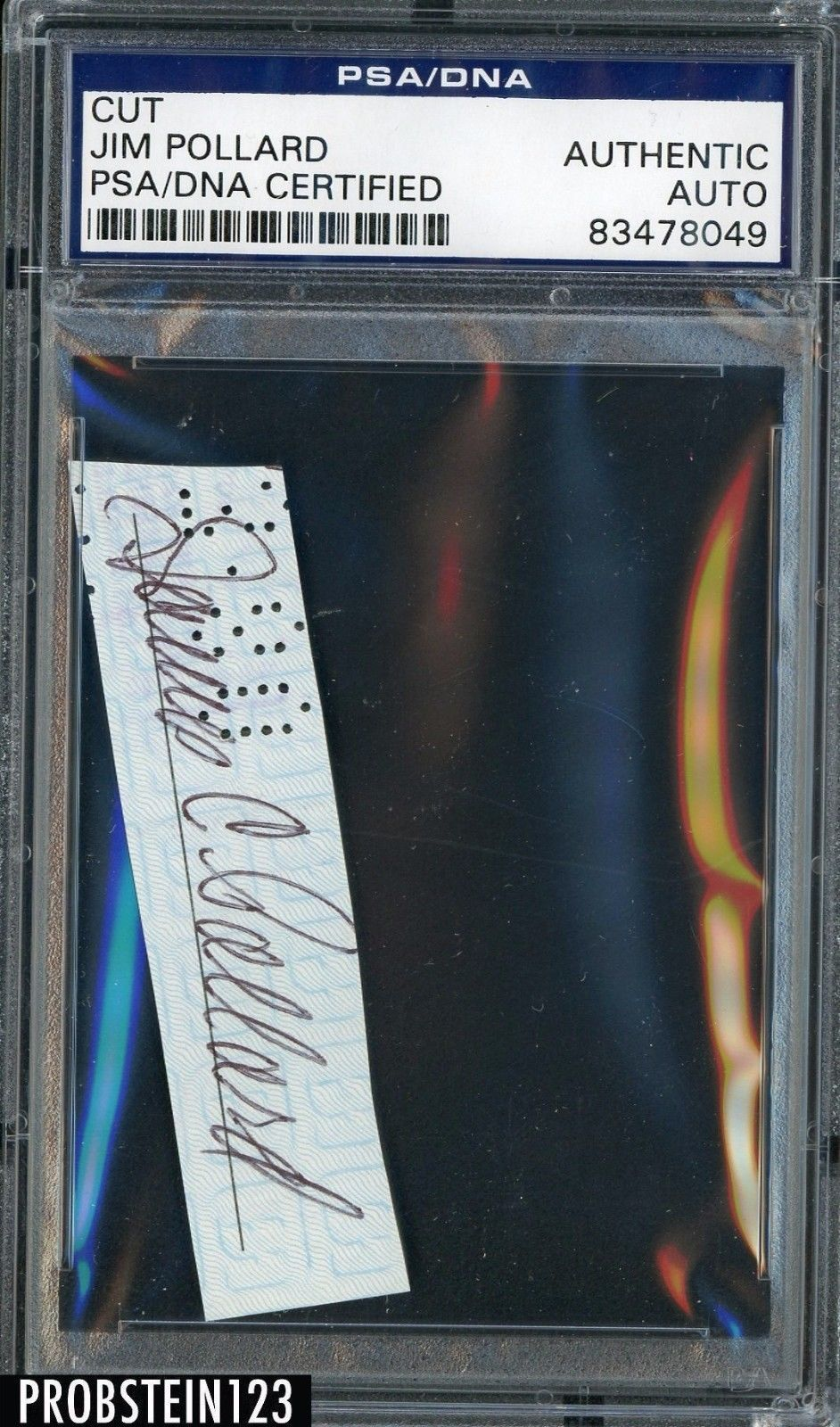 Celebrity Autographs Jim Pollard Signed Cut Auto Psa Dna
