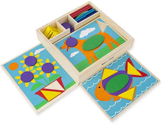 Amazon.com: Melissa & Doug Beginner Wooden Pattern Blocks ...