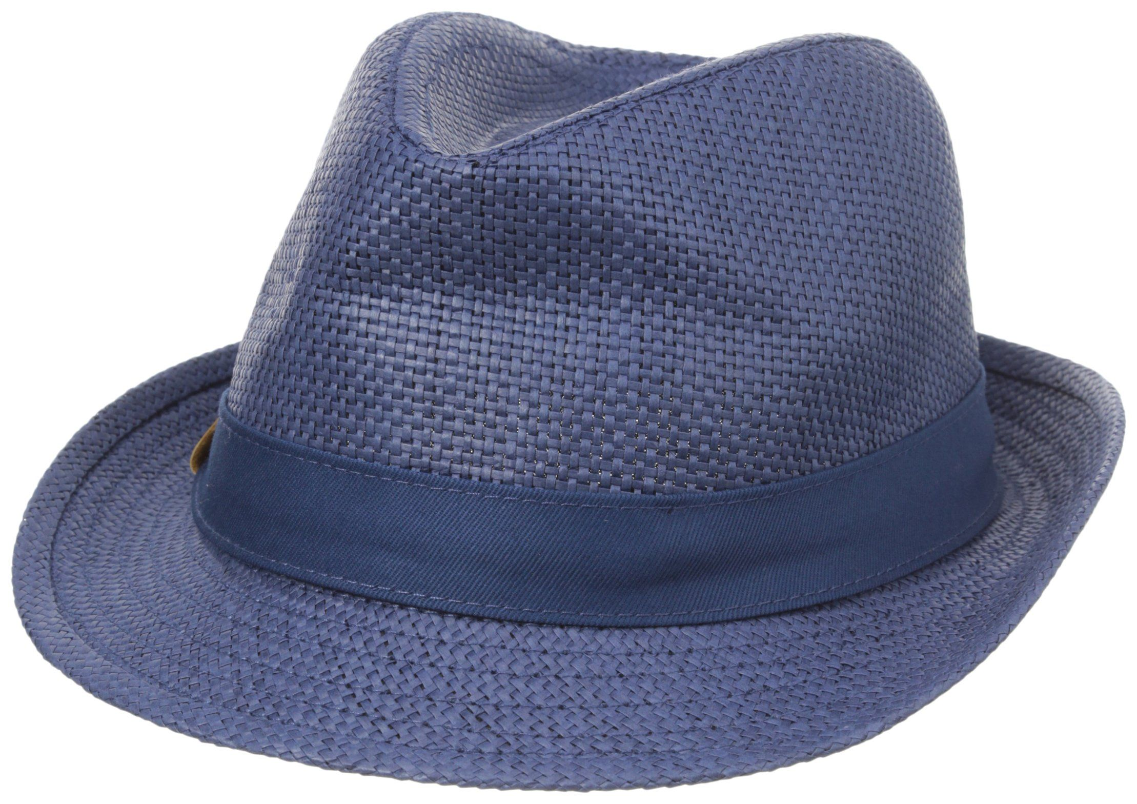 Straw hat Straw hat for toddler boy with navy and white