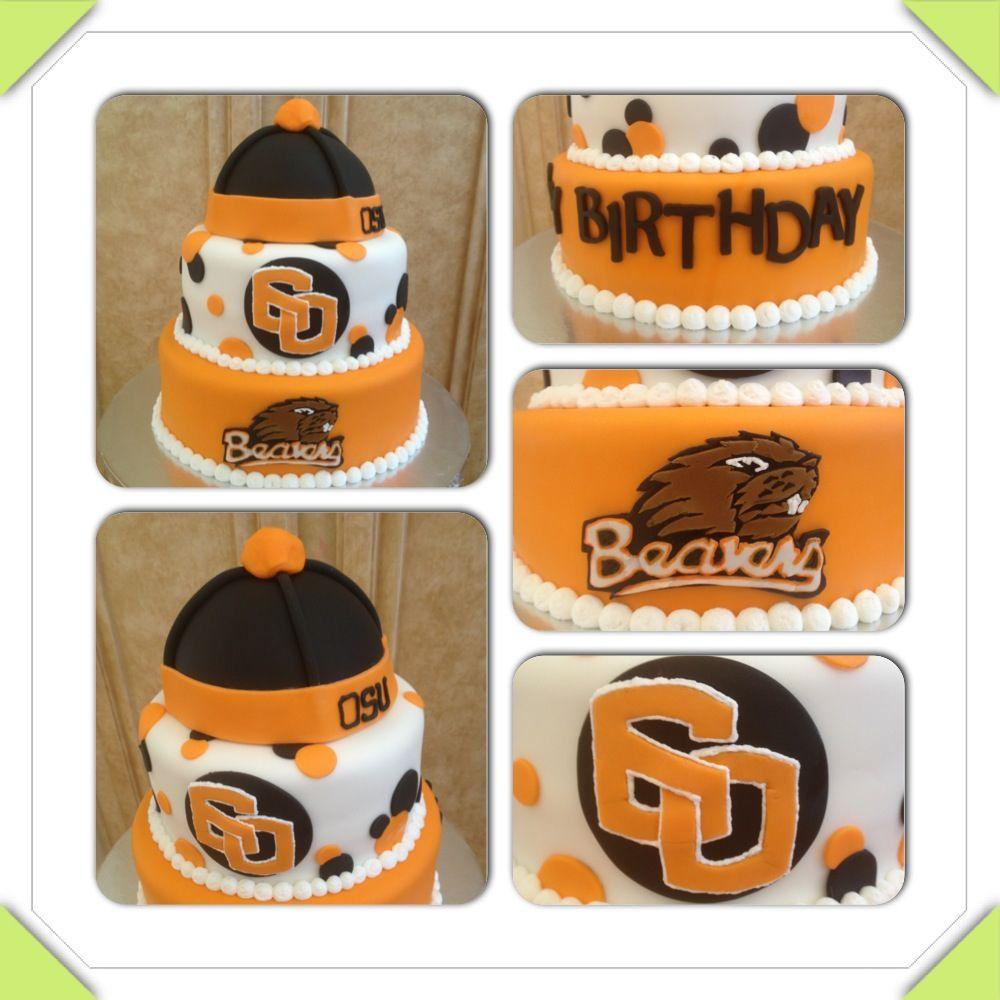 OSU 60th Birthday Cake. Oregon State, Beavers Www.facebook