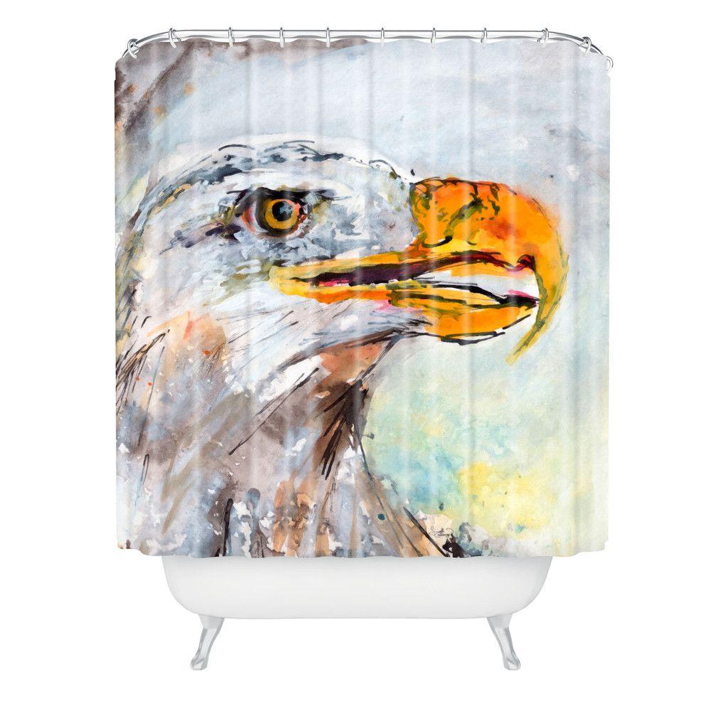 Ginette Fine Art Bald Eagle Shower Curtain
