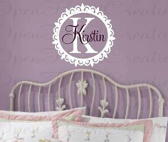 Personalized Vinyl Wall Decal  Monograms by openheartcreations, $35.00