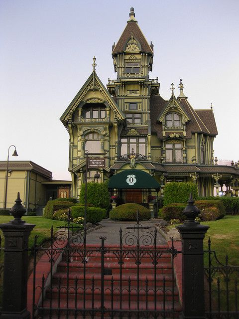 The Carson Mansion, considered the most grand Victorian home in USA located in Eureka, California // I've been here at in person it is amazing!