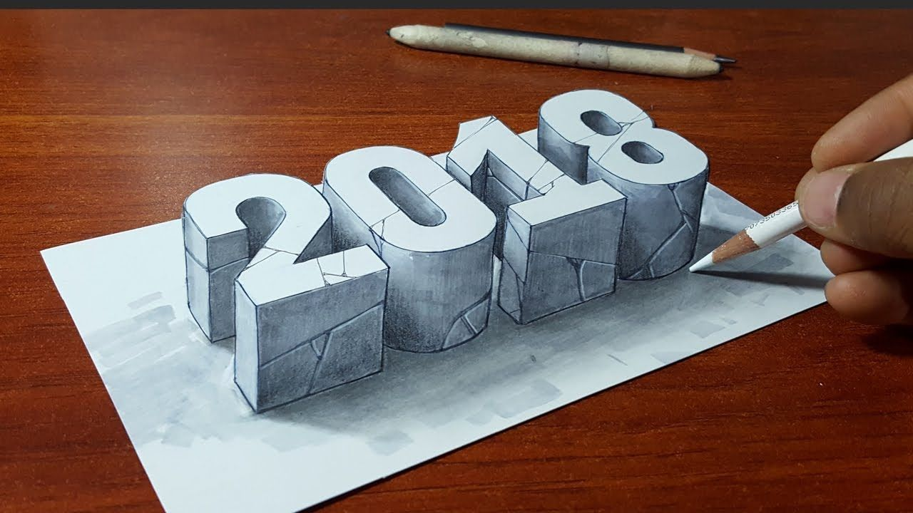 Happy New Year Drawing Art