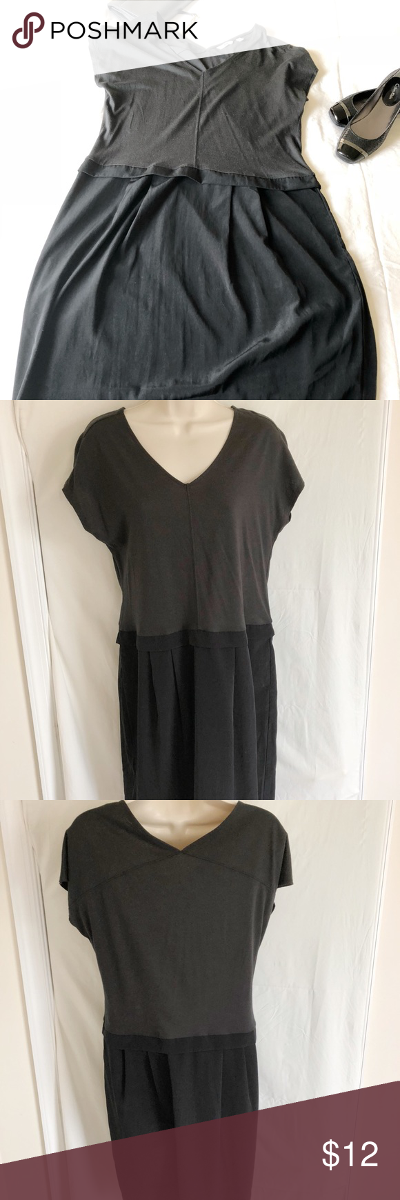 Uniqlo womenus shortsleeve dress black
