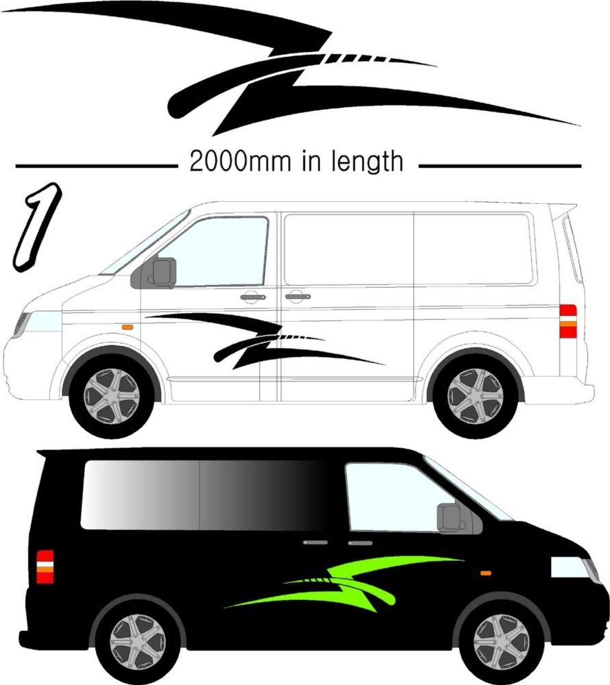 Camper Van Motorhome Caravan Vw Sticker Graphics Ebay Camper Van Motorhome Camper [ 1000 x 890 Pixel ]