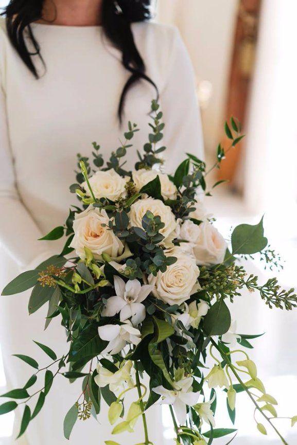Garden Greenery Roses Organic Bridal Bouquets By Nola Flora New Orleans Wedding Florist Www Nolaflora
