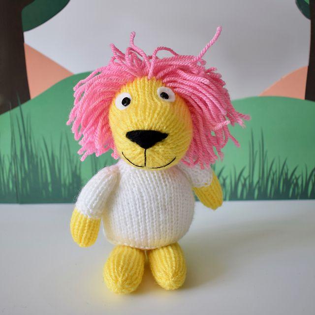 Lionel The Lion Free Knitting Pattern Animal Knitting Patterns