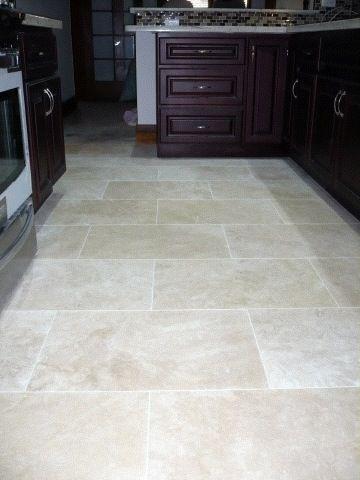 Travertine floors sealing natural travertine floor Travertine kitchen floor ideas