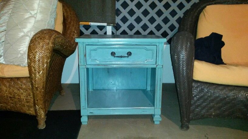 My garbage throw away I picked and painted with chalk paint