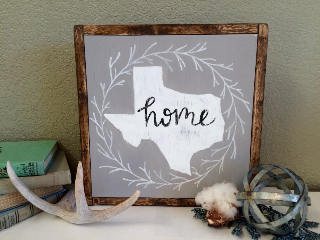 Wood Signs Home Decor Simple Texas Home Sign Texas Sign Home Sign State Sign Gift Idea Decorating Inspiration