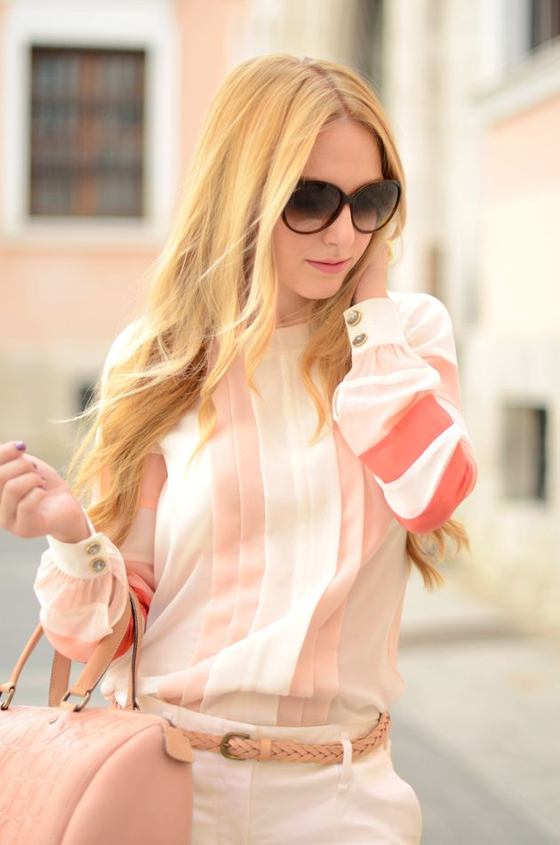 love the blouse and the rest of this outfit is so candy cute.