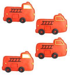 fire truck cookies (set of 4)
