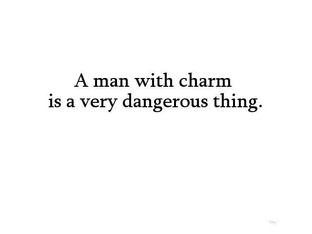 how to be a charming man
