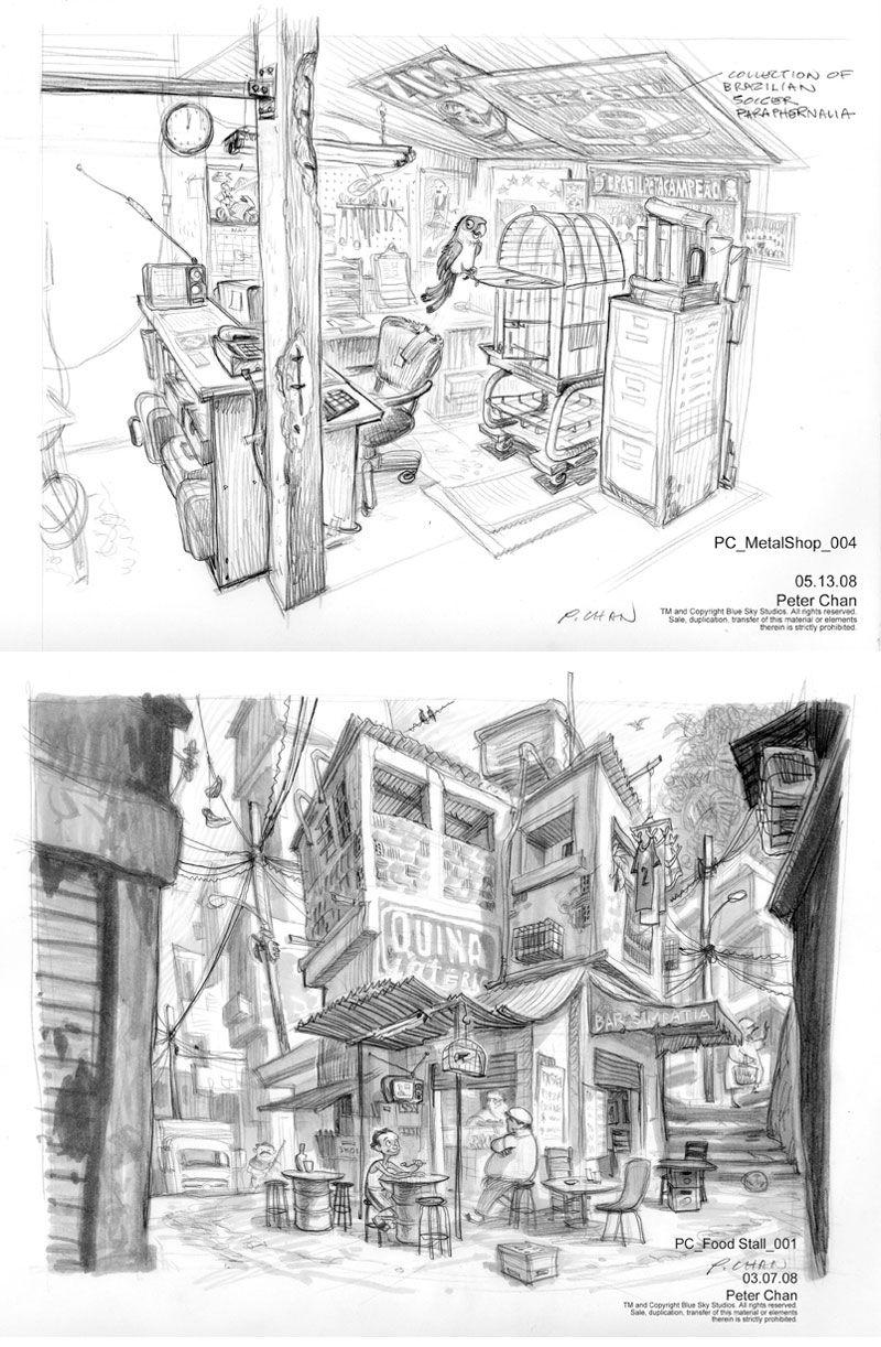 Artes de Peter Chan para o filme RIO (de 2011) - THECAB - The Concept Art Blog