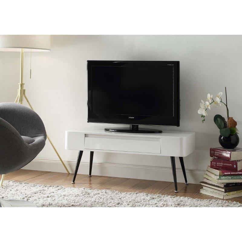 Black And White Retro 40 Inch Tv Stand Phoebe Tv Stand With Drawers Black And White Tv Stand Mid Century Modern Tv Stand 40 inch tv stand