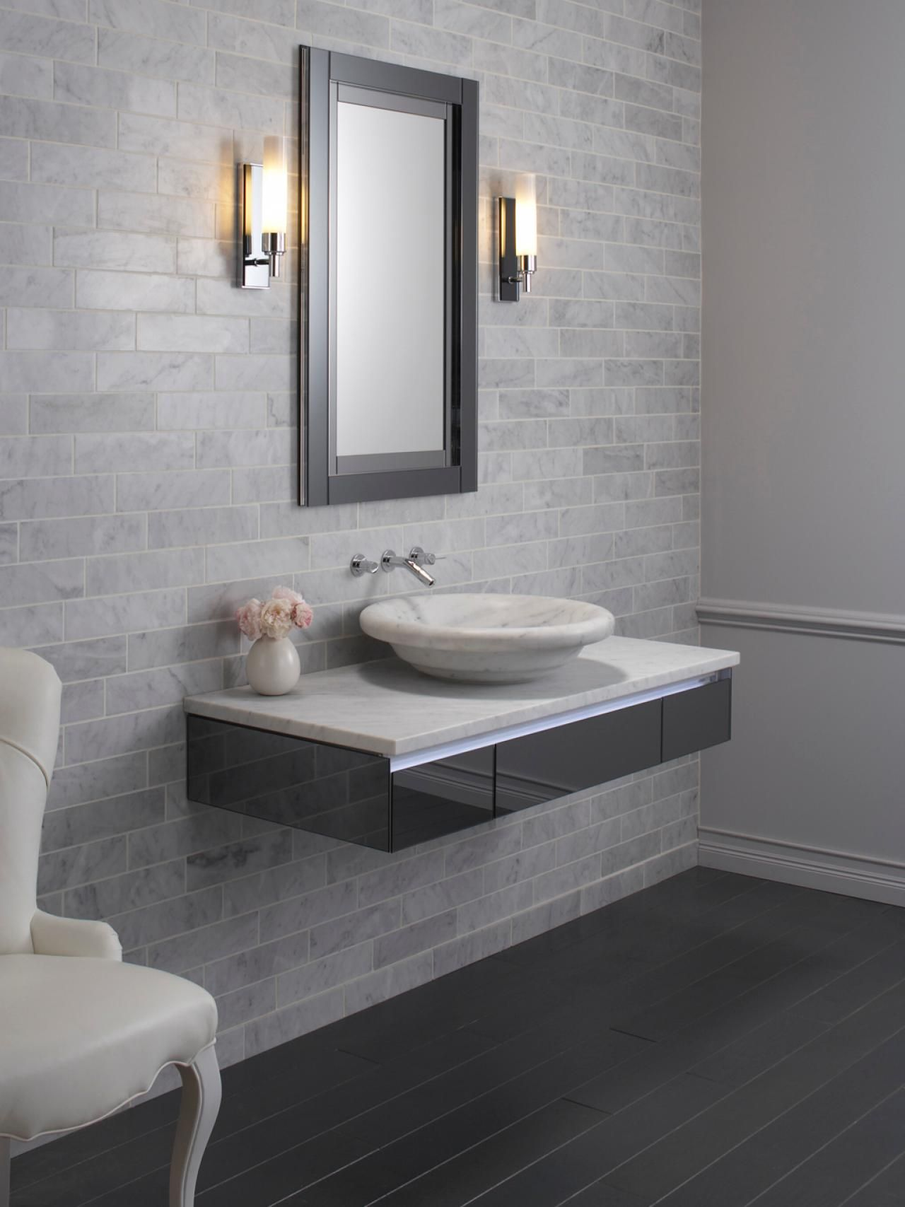 Contemporary Bathroom With Floating Sink Accessible Bathroom Design Bathroom Layout Floating Bathroom Vanity