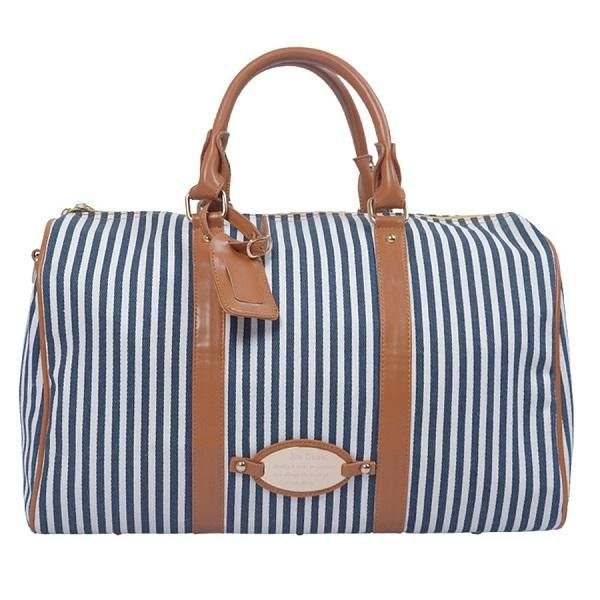 stylish-striped-duffle-beach-bags-for-ladies | Fashion | Pinterest