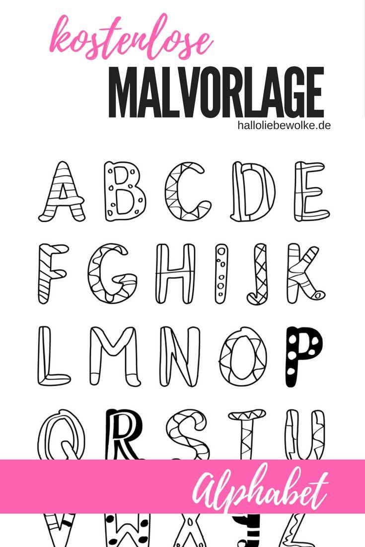 Printable & Malvorlage} Buchstaben lernen | Das alphabet, Vorschule ...