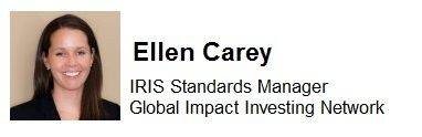 ELLEN CAREY is Manager of Global Impact Investing Network's
