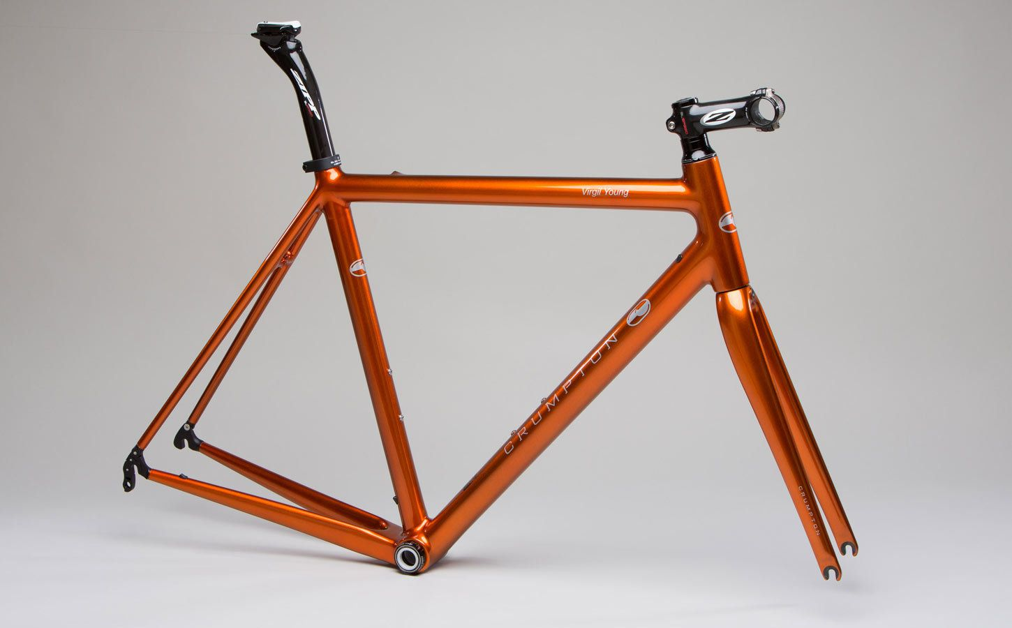 Crumpton Time Superlight Frameset With Custom Orange Pearl Paint