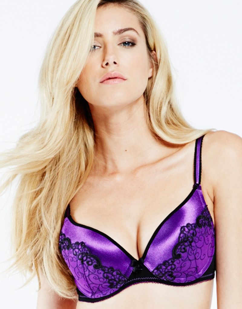 By Caprice Precious Savanna Padded Bra Black Purple  a04de4fdf