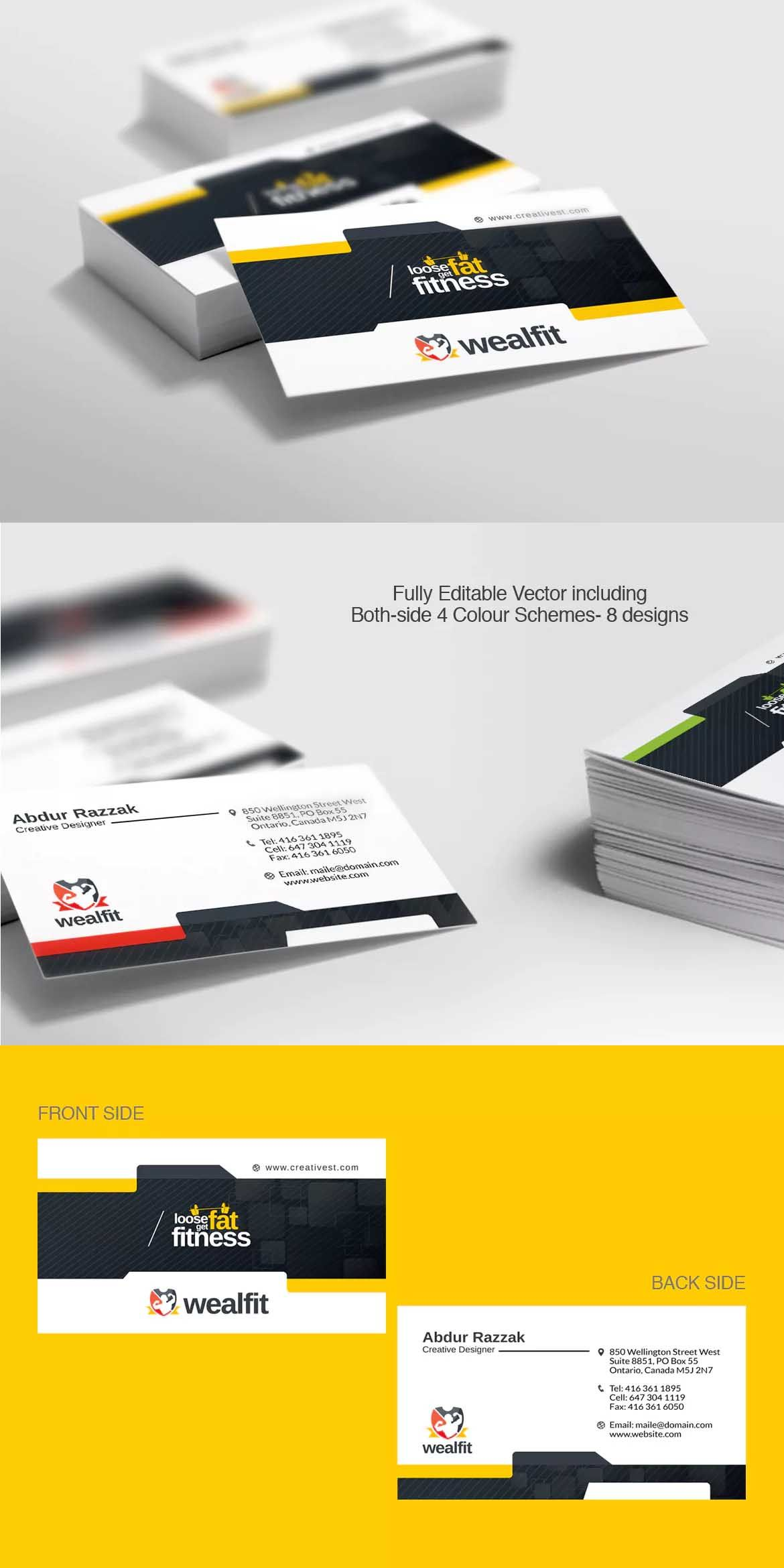 Fitness gym business card template eps pinterest fitness gym business card template eps friedricerecipe Choice Image