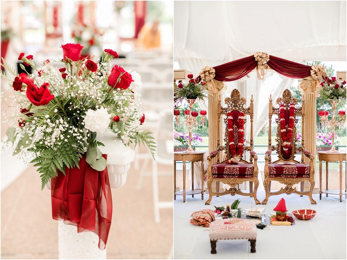 Hindu wedding decoration ideas  Anisha u Garrickus Hindu Wedding  The Inverness Hotel Denver