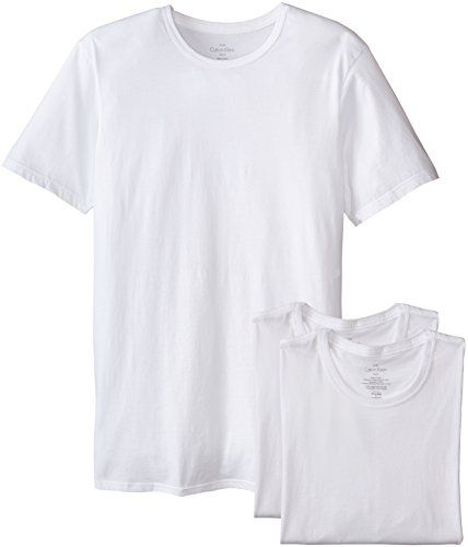 a9f30cb0 Discounted Calvin Klein Men's 3 Pack Cotton Classics Slim Fit Crew Neck T- Shirt, White, Large