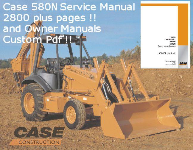 case 580 n 580n loader backhoe service manual owners manual 2800 rh pinterest com Case 580 E Parts Case 580 Super K