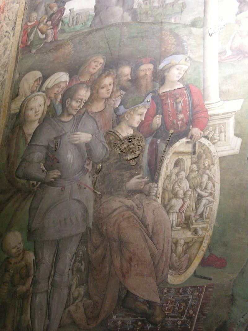 Oratorio di santa cecilia, 05 amico aspertini, martiri dei santi valeriano e tiburzio 04.JPG