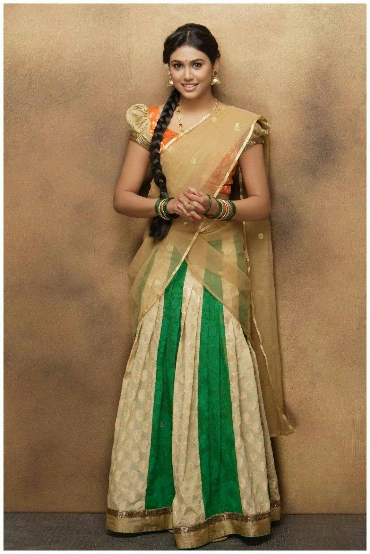 Manisha yadav | Half saree in 2019 | Indian beauty saree