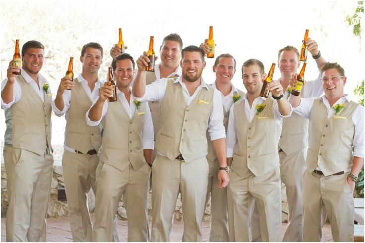 Autumn Spring Groom Wear Beach Wedding Men Suits Waistcoat And Pants Groomsmen Suit Tuxedos Vest Tie T48